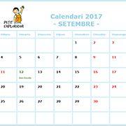 Calendario escolar, agenda para profesores y maestros. Septiembre 2017