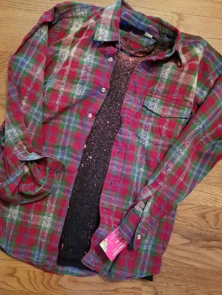 Frosted flannel & t shirt