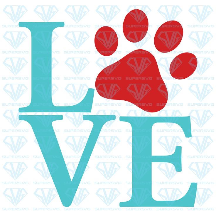 Download LOVE With Paw Print SVG Files For Silhouette, Files For ...