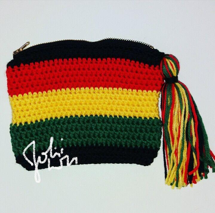Crochet regge rasta bag