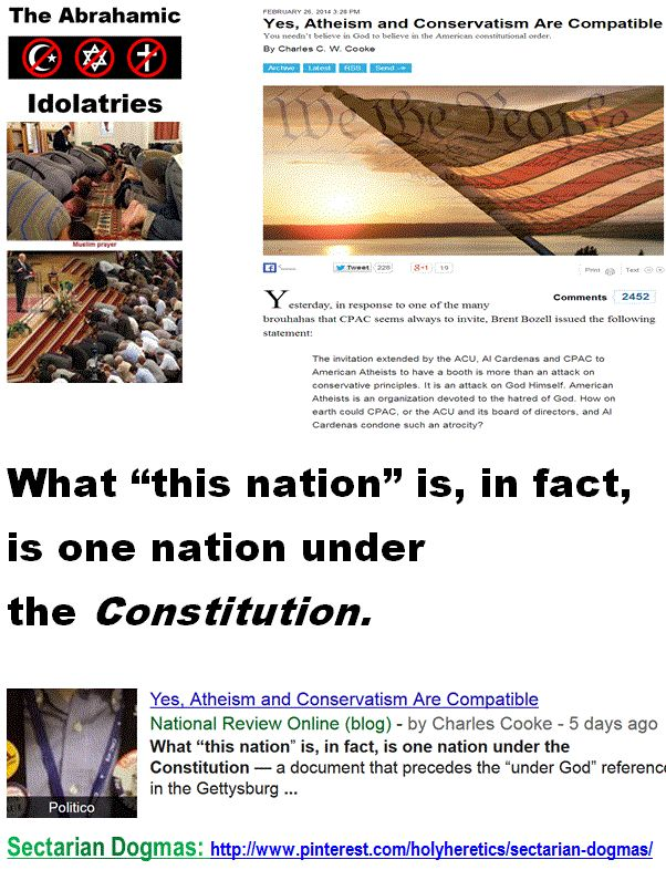 """Constitutionally and legally, America is a secular state. - What """"this nation"""" is, in fact, is one nation under the Constitution.   http://www.pinterest.com/pin/329466528962092645/ http://www.pinterest.com/pin/329466528962092630/ http://www.pinterest.com/pin/329466528962075994/ http://www.pinterest.com/pin/329466528962081262/ http://www.pinterest.com/pin/540924605215456530/"""