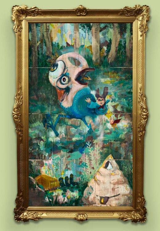 Farewell IV, Mixed media on card board, 177 x 100 cm, 2015 #artstage2016 #artstagesingapore #erkutterliksiz #contemporaryart #contemporary #art #artist  #atelier #painting #artstudio #exhibition #xist