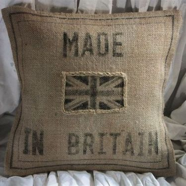 Union Jack and burlap the ultimate combination