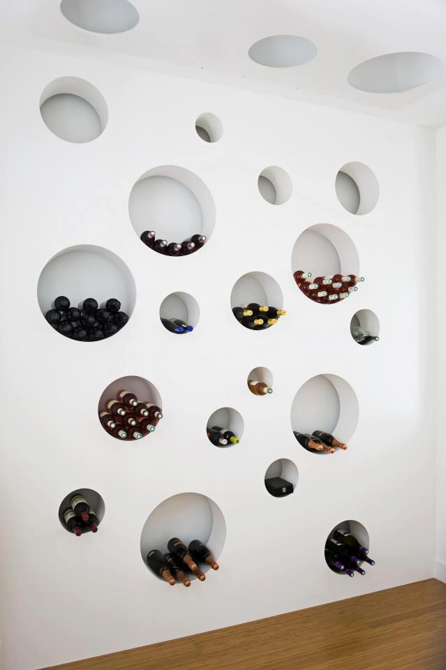 Wall of wine.
