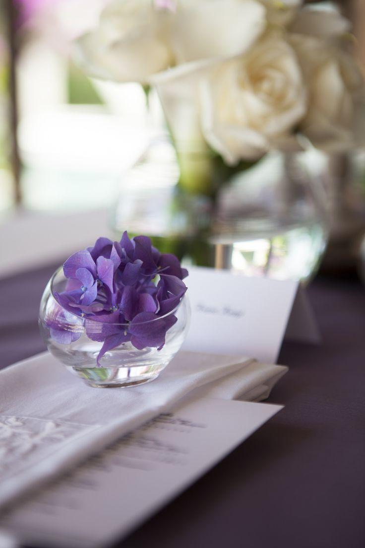 Seating treatment in purple Hydrangea by Tirtha Bridal Uluwatu Bali