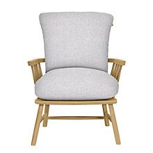Buy John Lewis Croft Collection Balmoral Armchair, Linamore Blue Grey Online at johnlewis.com