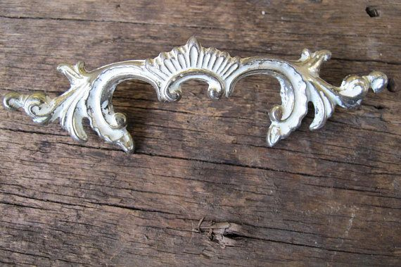 Weathered Salvaged Vintage Cream And Gold French Provincial Dresser Drawer Pulls Marked Canada C Cream And Gold French Provincial Drawer Pulls Dresser Handles