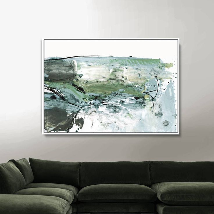 Large Abstract Painting 24x36 Art Printable Digital Green 30x40 Print Bedroom Dan Hobday