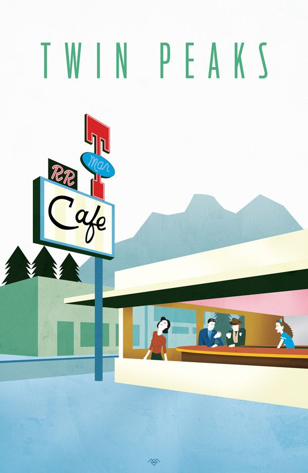 Twin Peaks Poster Series by Mike Rubino for the Hollywood Theater in Dormont