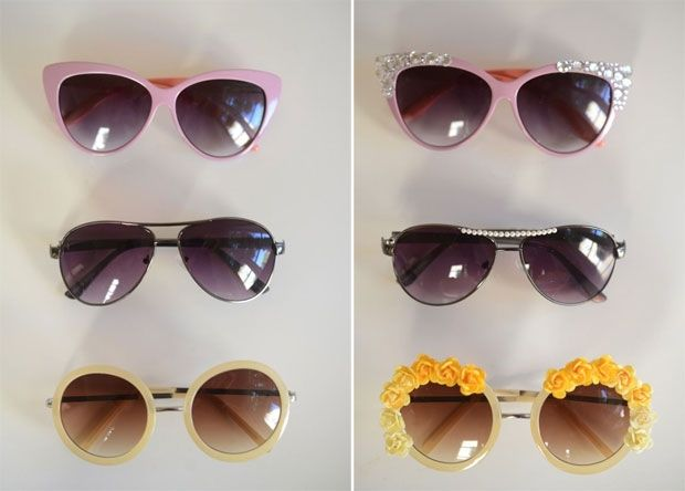 7 DIY Ideas, DIY: Embellished Sunglasses