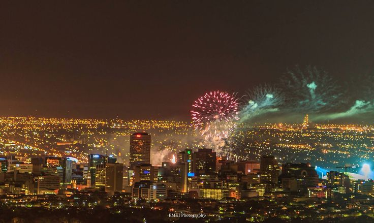 Adelaide, New Year fireworks, celebrated in the city centre, at Glenelg Beach, Semaphore Beach, as well as in other centres.