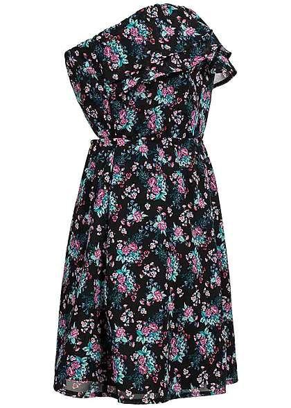 Tally Weijl Damen Mini Bandeau Kleid Rücken offen Blumen Muster Gummizug schwarz pink Tally Weijl Kleider | 77onlineshop im Online Shop preiswert kaufen