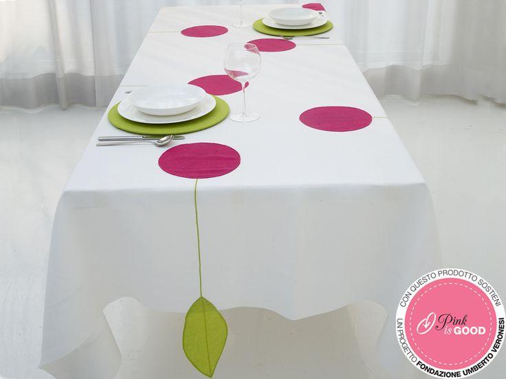 #Tovaglia ciliegia rosa. Misure 170x270cm; 180x320cm. Per maggiori info contatta #Centrotavola Milano: vai sul nostro shop all'indirizzo http://shop.centrotavolamilano.it/ oppure contattaci al n° 02866641.