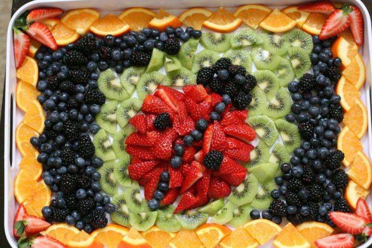 Ladybug fruit platter