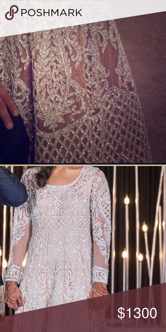 Beautiful beaded gown/outfit/lengha Beautiful beige reception gown with pearl/st…