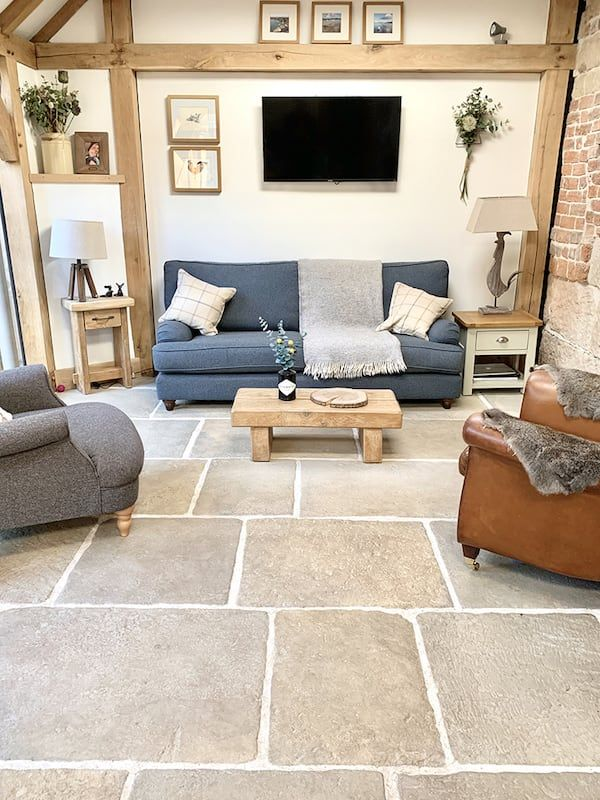 Old Stone Cottage Case Study Westminster Stone In 2020 Stone Flooring Living Room Tile Floor Living Room Living Room Tiles #stone #floor #living #room