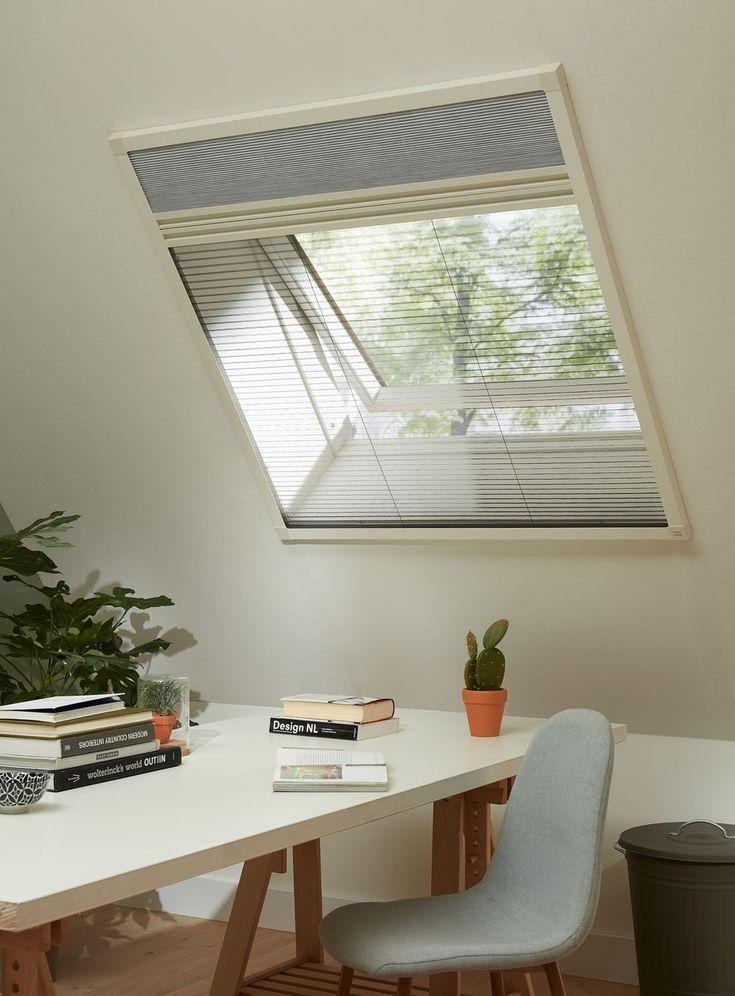 Bruynzeel horren zijn er voor elk soort raam of deur; zoals deze hor, speciaal voor een dakkiepraam.