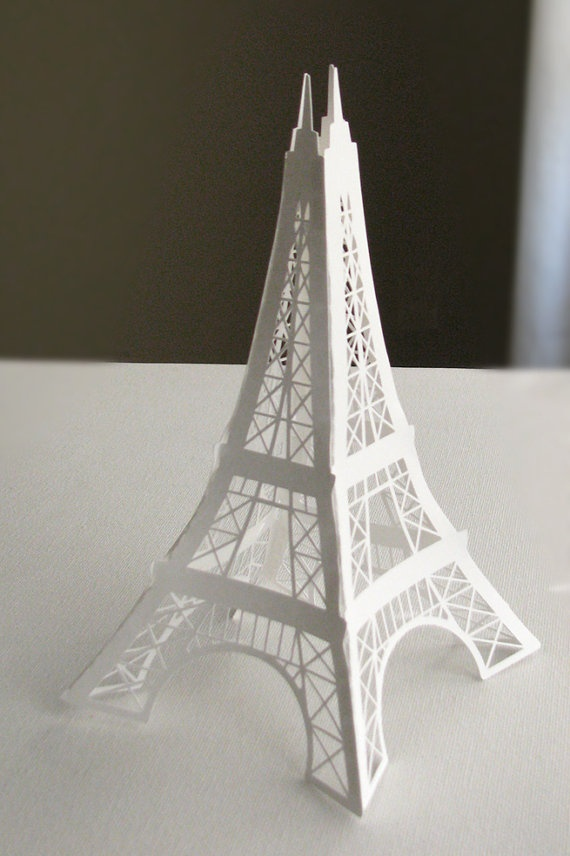 Eiffel Tower 12 Inches Paper Die Cut Decoration For Your