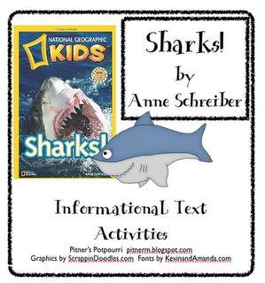 Pitner's Potpourri: Sharks! -- Freebie  Second Grade Common Core Standards