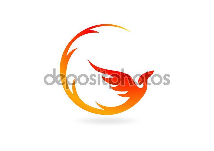 Abstrait Phoenix business logo design symbole vecteur