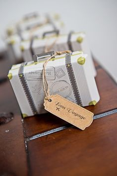Suitcase Favor Box by @kateaspen | Safari First Birthday Party | Party of 7 Photography | Sweet Georgia Sweet