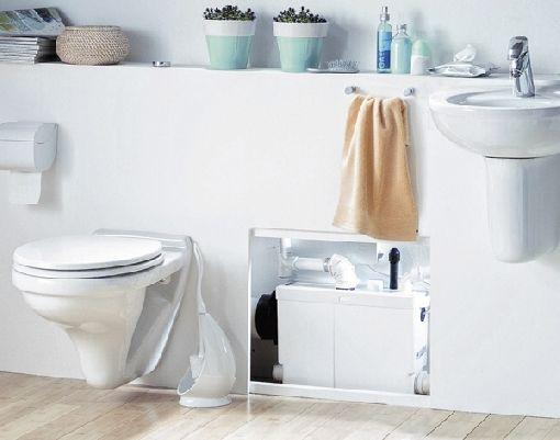 Homeplaza - Hebeanlage für flexible Abwasserentsorgung - Gäste-WC auch im Keller