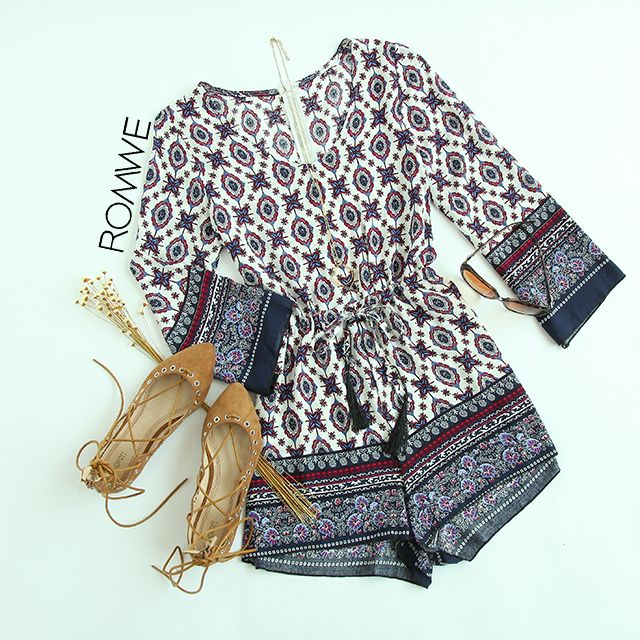 Tribal style romper--Very classy and comfortable to wear