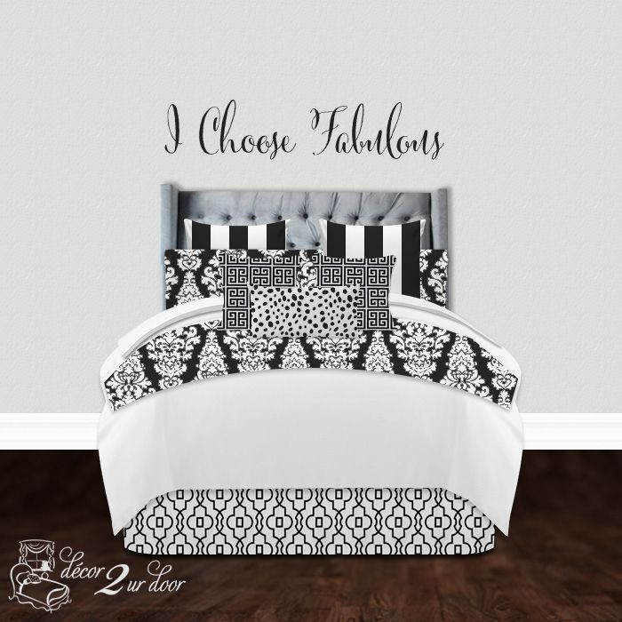 Black and White Neutral designer bedding set  Available in all bed sizes   twin. 237 best Apartment Design and Stylish Living with D2D images on