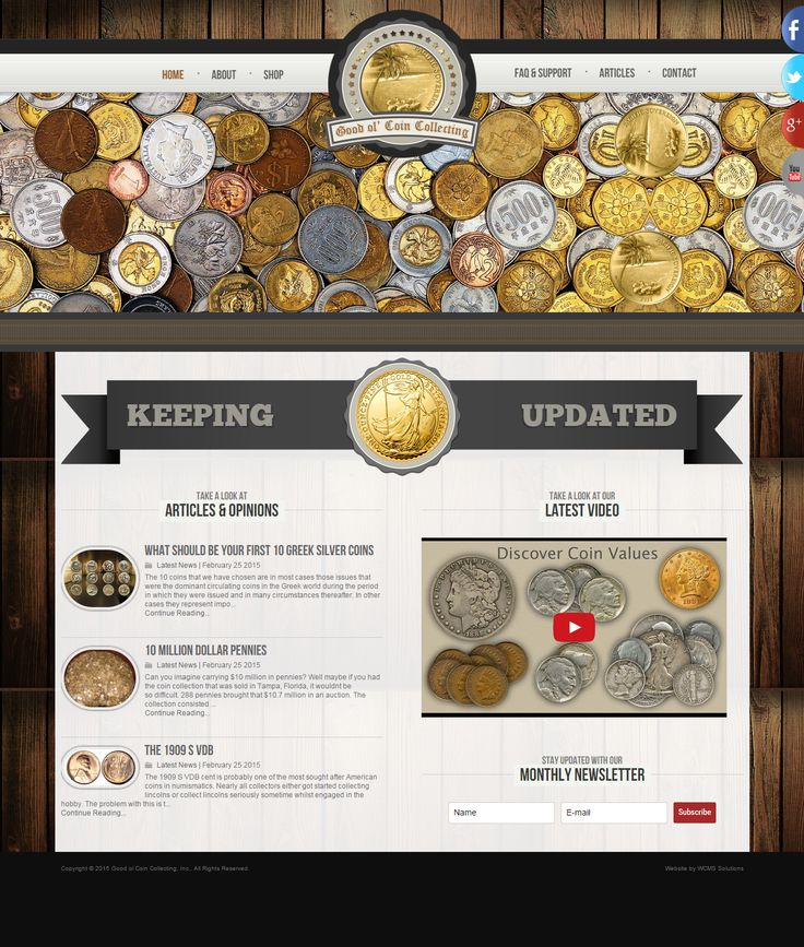 Coin collecting has been going on for while.It has a pretty big part in the history of man. It is a subtle hobby that very few people can appreciate. I am of course, one of the few people who does appreciate the art of it. We are all familiar with coins, we use them in our every day life. goo.gl/LWfemY