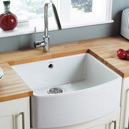 astracast edinburgh ceramic 1 bowl bow front sink with chrome waste white the sinks design