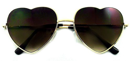 Dita Heart Sunglasses - 266 Amber Brown $15