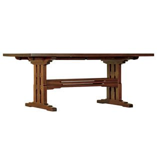 arts and crafts dining room table stickley san marino trestle table arts and crafts 8646