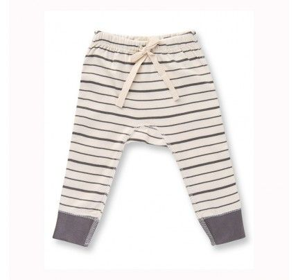 Charcoal French Stripe Pants from Sapling Child's L'Abeille (Honey Bee) collection