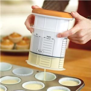 Batter Dispenser.....I need this asap. Looks simple and I always make a mess! $18