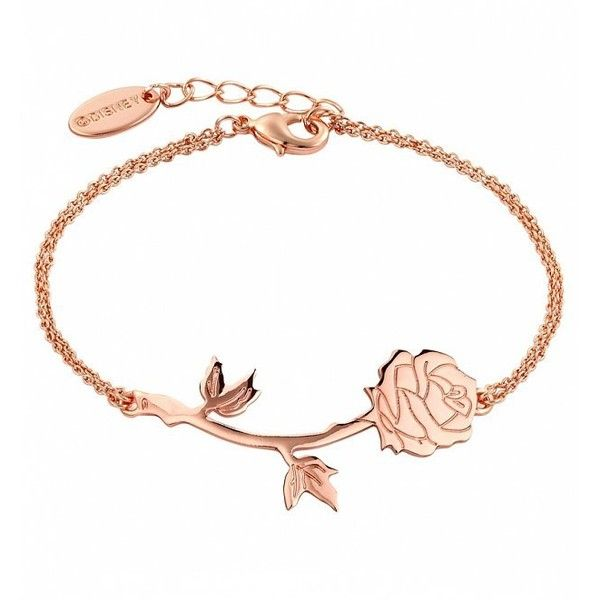Rose Gold Plated Beauty The Beast Rose Bracelet (£24) ❤ liked on Polyvore featuring jewelry, bracelets, accessories, engraved jewellery, rose jewellery, rose bangle, engraved jewelry and engraved bangle
