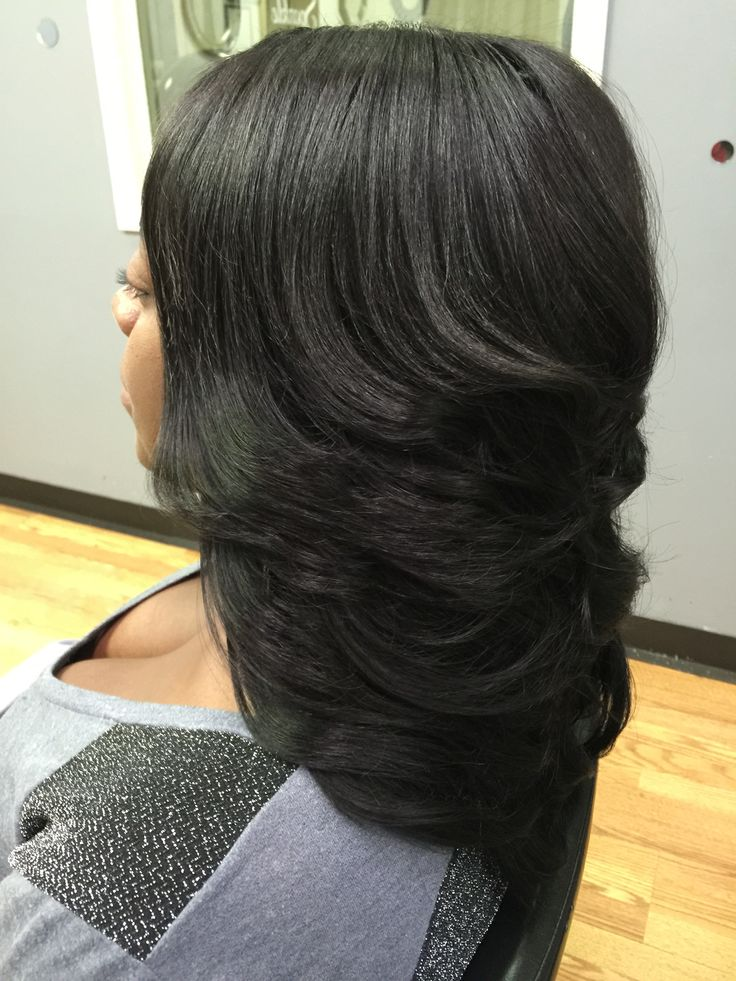 Long layered quick weave