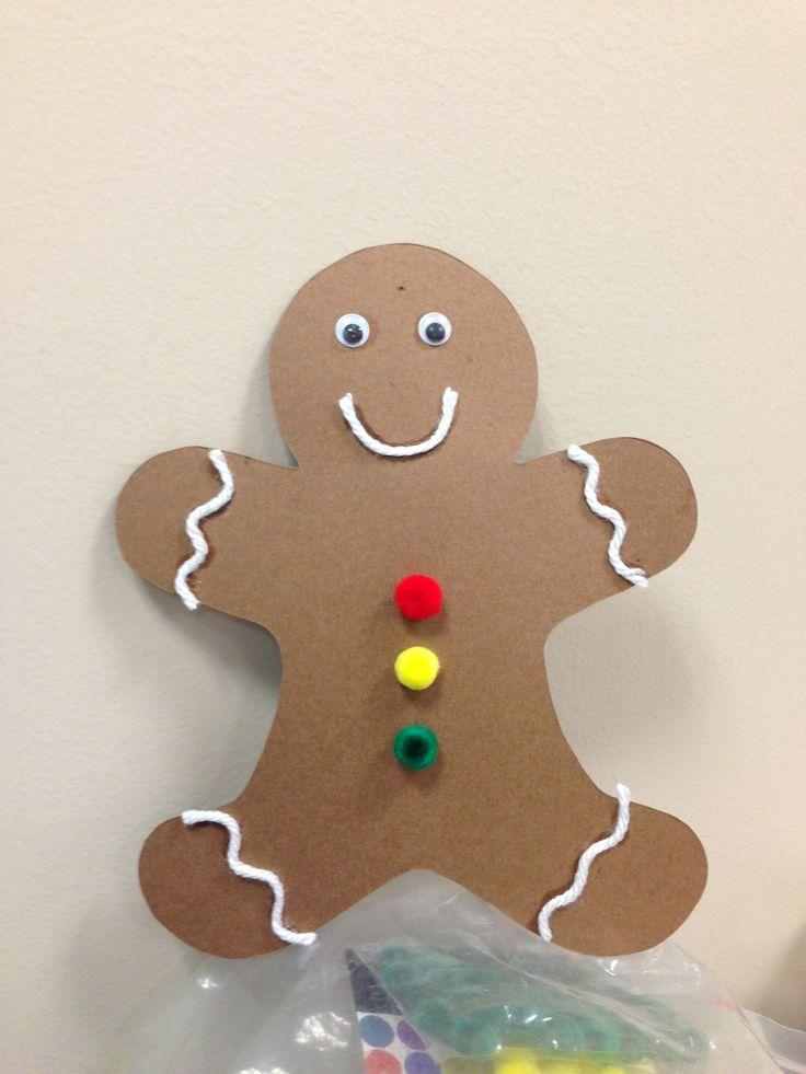 gingerbread man craft  tullis library preschool storytime