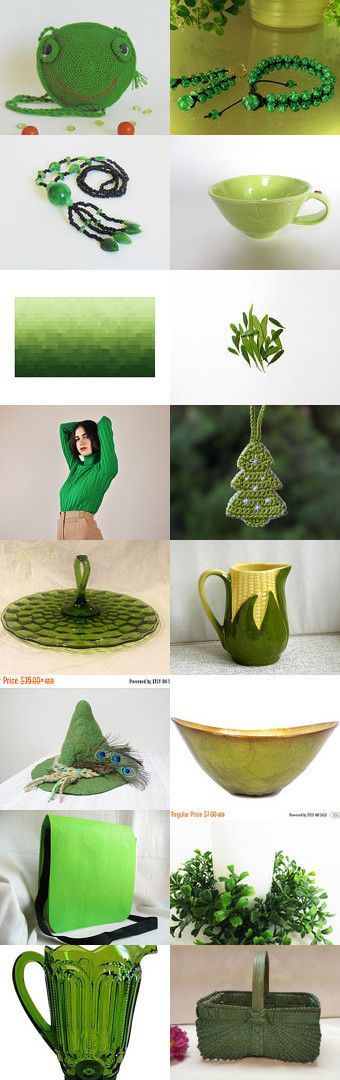 Beautiful green finds by styledonna on Etsy--Pinned+with+TreasuryPin.com