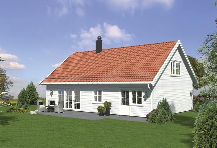Linnea er en smart og praktisk bolig som kan gå i flere trinn. På denne måten kan man spare på kostnadene ved å for eksempel la loftetasjen stå uinnredet frem til man eventuelt får behov for større hus.