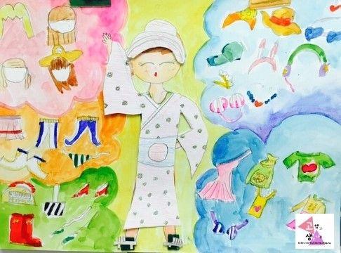 창의미술 - 나만의 스타일로 가득! 오늘은 무슨 옷을 입을까? [청주미술학원] 아이들의 창의력이 쑥쑥 창의...