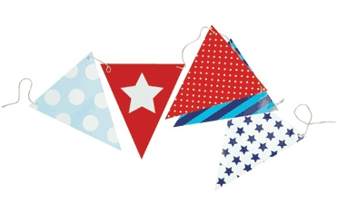 Blue Party Bunting Flags
