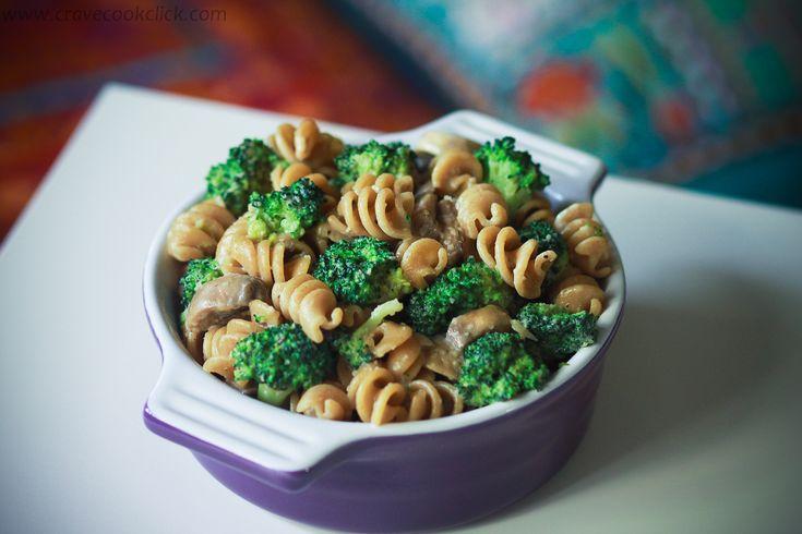 Whole Wheat Pasta with Broccoli and Mushrooms Recipe - Add chicken