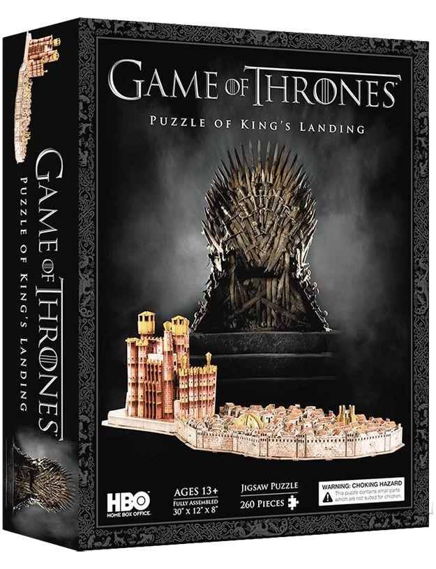 Game Of Thrones quebra-cabeça 3D Presente De Natal Aniversário De Família-Kings Landing//Red Keep