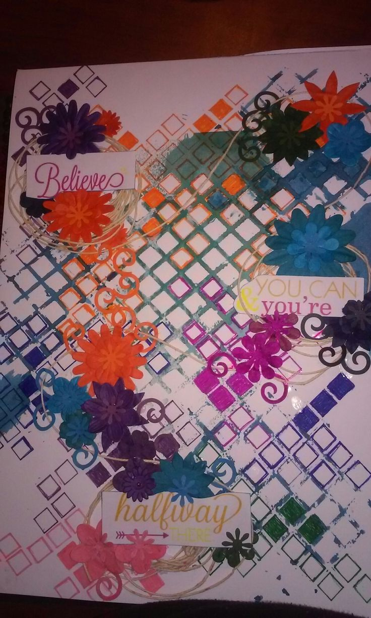 Art journal, stencil and inks