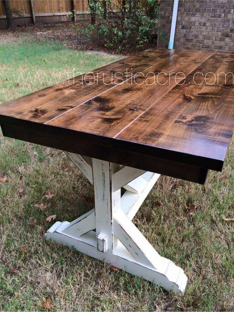 Farmhouse Table   The Rustic Acre   College Station, TX   Custom Built Furniture