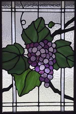 Stained glass grapes for kitchen cabinet abide in Me and I in you. As the branch cannot bear fruit of itself...abide in Me. Without it Me ye can do nothing.
