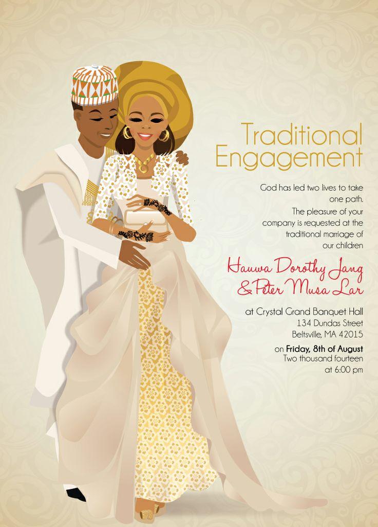 MIJI Nigerian Hausa Traditional Wedding Invitation 41
