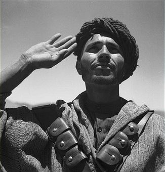 Morocco. Moroccan soldier of the French army in the 26th Goumier division, posted in Imi n'Tanout, 1945. Pin by Paolo Marzioli