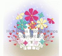 """High Hopes Stamp """"Garden Fence"""" S505 http://highhopesstamps.com/shop/backgrounds/garden-fence-s505/"""