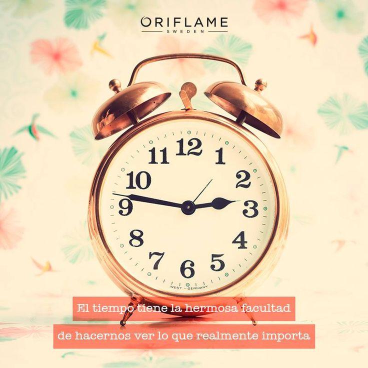 El tiempo tiene la hermosa facultad de hacernos ver lo que realmente importa.  #Quotes #Frases #Life #OriflameMX